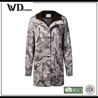 Latest dress designs winter parka coat for girls