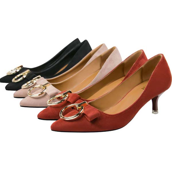 korean lady elegant shoes women high heel shoes