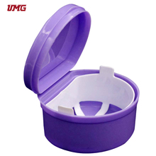 With hygienic rinsing basket plastic tooth box denture box