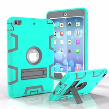 Top Quality Hard PC+Soft Silicone Bumper Case For iPad Mini 1 2 3