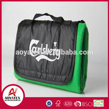 new designs korean style polyester Production On Time Famous brand promotional picnic blanket for outdoor