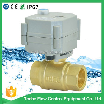 "DN20 3/4"" DC5v brass CR3 01 Nonstandard with manual override electric motorized ball valve"