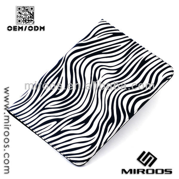 Newly Zebra Pattern Design Tablet Folio Leather Case for iPad3