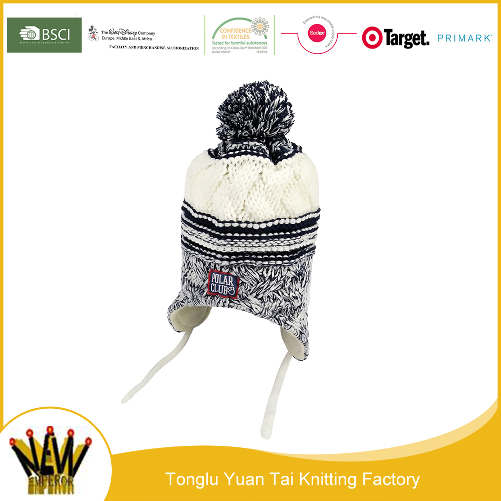 Alibaba china wholesale ombre knitted cap hat with ear flaps