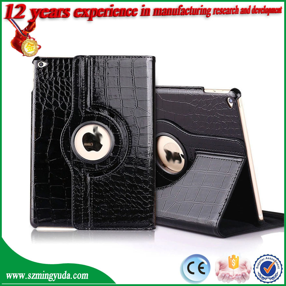 PU leather Rotating case For iPad Air case , lowest price rotating flip leather case for iPad 5/Air