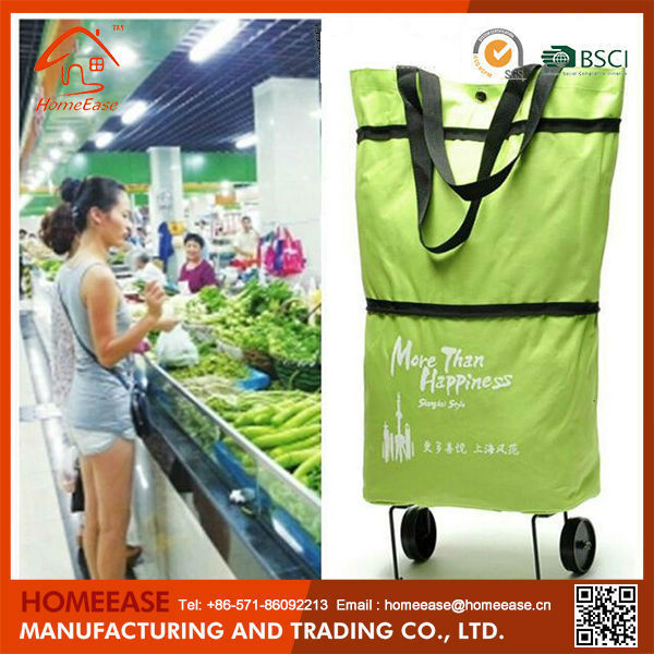 Supermarket Equipment Folding Shopping Trolley Bag