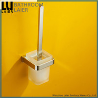No.85150 Wholesale Prices Modern Bathroom Brass Chrome Finishing Wall-Mounted Bathroom Accessories Toilet Brush Holder