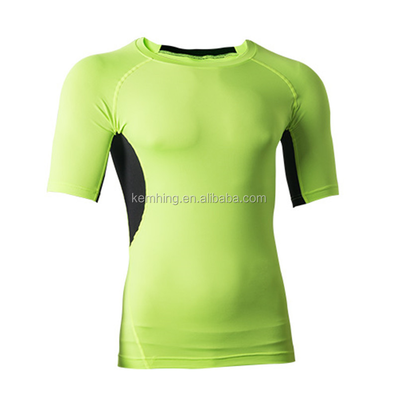 mens compression gym shirt gym t shirt Sport Wear For Dri Fit Slim Sportwear Training fitness shirt