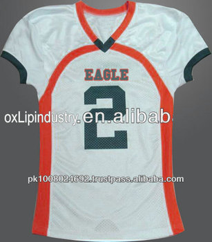 Custom College Sublimated Polyester American Football Uniforms Jerseys