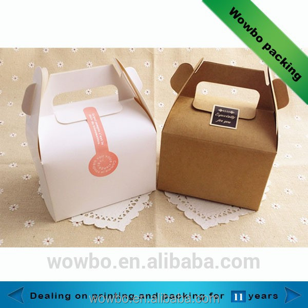 Mini cardboard single cupcake take away box with handle
