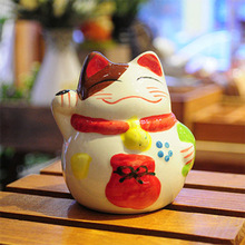zakka Lucky Cat ceramic piggy bank piggy bank ornaments Jushi gifts A0304