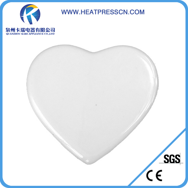 "6 ""thermal transfer heart-shaped pendant/two sides printing blank coating was hanging"