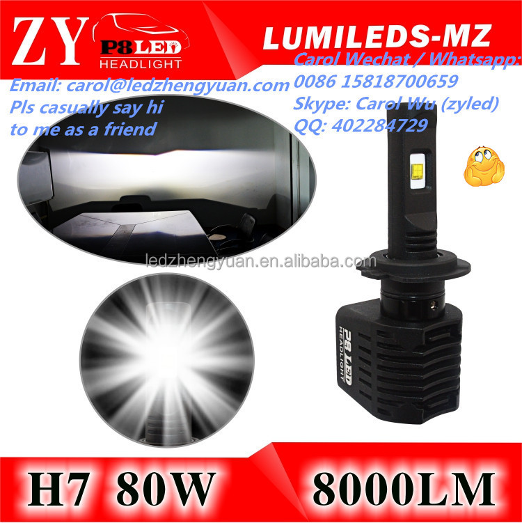 New Product Extremely Bright Car Led Headlight H7 xhp70 c ree h4 h11 hb3 9005 hb4 9006 h15 Projector Lens Car Accessories Shops