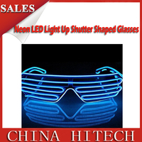 manufacture Flash Heart LED Glasses Party Celebration Sunglasses