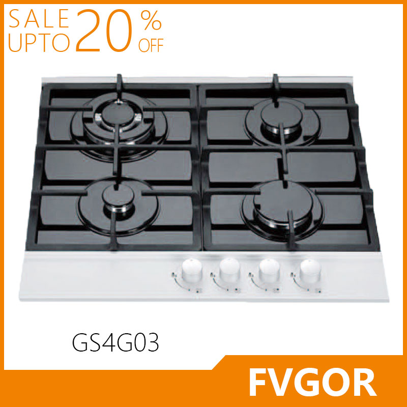 GS4G03 Best Quality Glass Cooktop 4 Burner Gas Cooking Range Kitchen Appliances