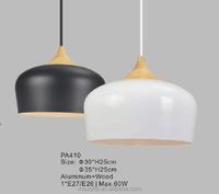 Vintage Indoor Wood Pendant Lighting Loft Aluminum Hanging Lamp Fixtures for Home/Restaurant/Hotel Decoration