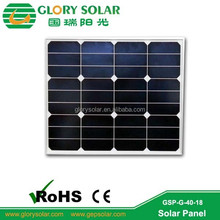 Glass PV 40 Watt Solar Panel Price Manufacturers In China For Road