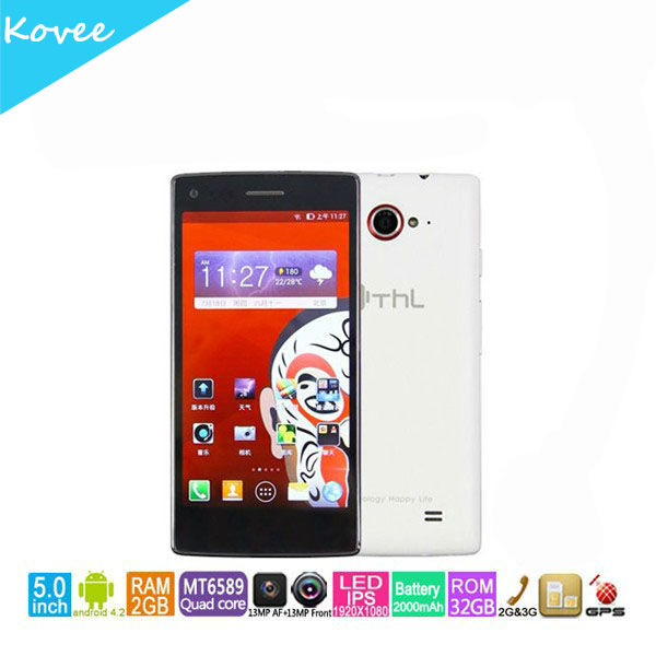 13MP camera THL W11 2g/32g 5inch 3g android phone MTK6589T 1.5GHz Quad Core smartphone IPS Android 4.2
