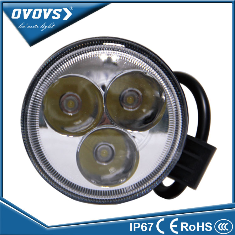 Ovovs car accessories 9watt working led light 12V offroad Auto 9w Led Working Light for car