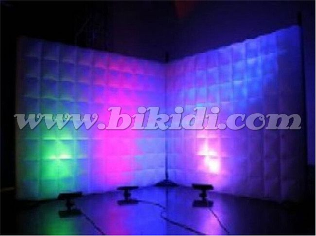Inflatable portable photo booth, led lighting advertising inflatable air wall C3007