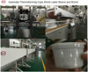 Thermoforming PP yogurt cup sleeve labeling machine filling machine