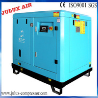 Direct driven screw air compressor with jump start