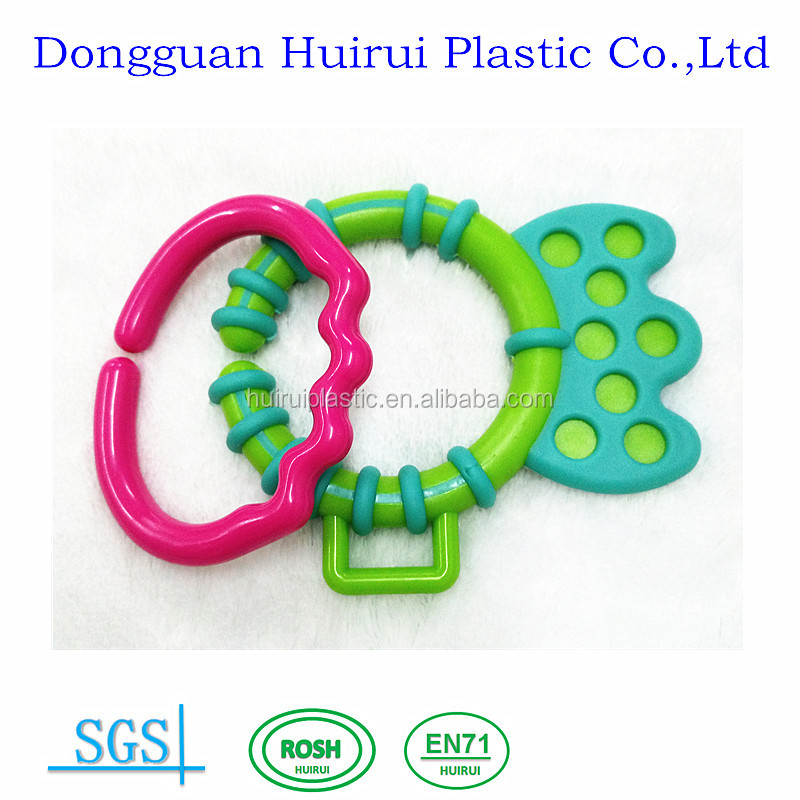 2016 new baby toy products toy parts plastic links baby teething teether ring for baby