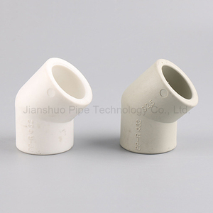 Plastic ppr pipe fitting 45 degree pipe bend
