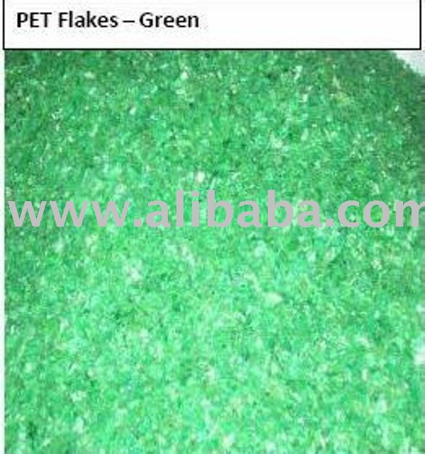 Green Pet Flakes Cold Washed