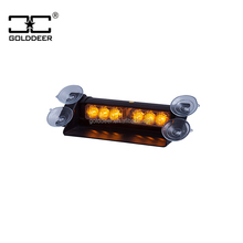 Amber Led Strobe Light 12V for Dash/ Deck/ Grille Mount