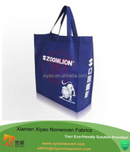Blue color tote bag cheap printed shopping bags