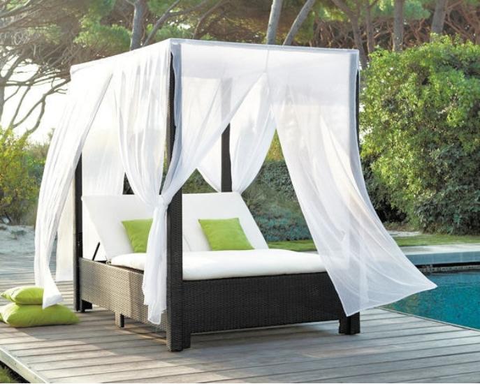 Außenbett Rattan Gartenmöbel 2-sitzer Sonne Liege Für Schwimmbad-Set ...