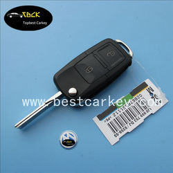 car key blanks wholesale for vw key shell 2 button remote key blank