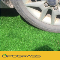Non flat! 50mm height artificial grass for garden, natural looking