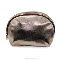 Short sample time fashion shinning PU leather cosmetic pouch bag for ladies