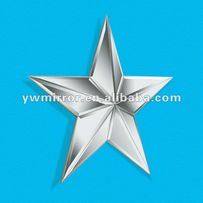 HWM10379 Bright star shape modern wall mirror for home decorative
