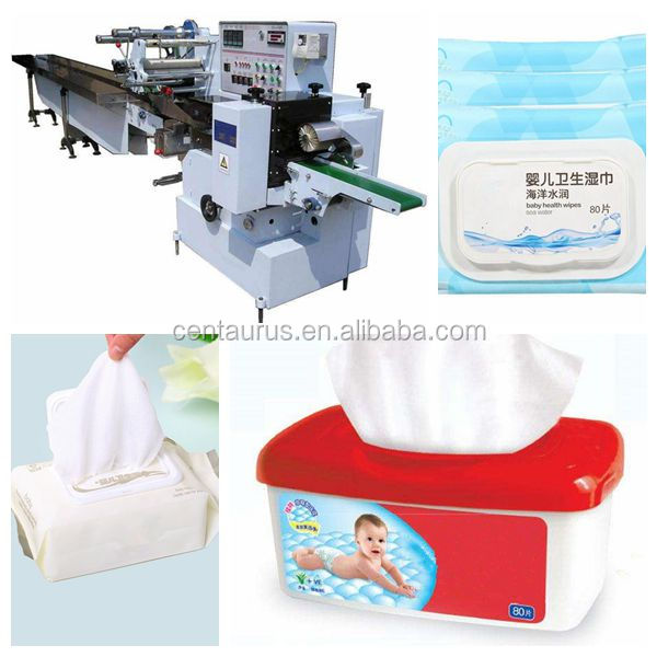 Easy to operate baby wet tissue packing machine with good price and high capacity
