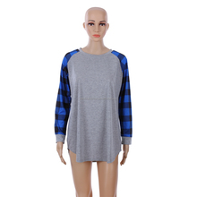 Wholesale Custom Printing Dri Fit Long Sleeve Plaid Raglan T-shirts