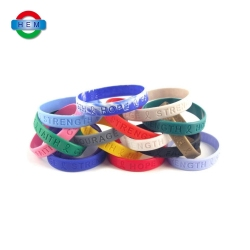 custom rubber silicone band bracelet patterns red cool silicone wristband for sports event