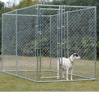 Best selling Dog Kennel animal cages Outdoor metal rabbit Cage Dog House pet cage for Sale 4mx4mx1.8m