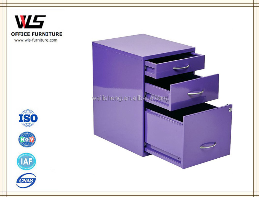 Purple file cabinets colorful mobile filing drawer cabinet with low price