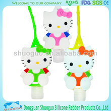 hand sanitizer for silicon holder with hello kitty for gift