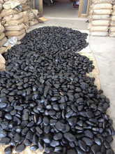 China Cheaper Round Stone Black pure black pebbles /paving stone /river stone
