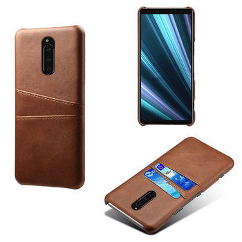 Luxury leather phone case with card slot For Sony Xperia XZ4