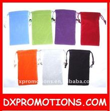 velvet drawstring mp3 holder pouch/velvet mp3 pouch