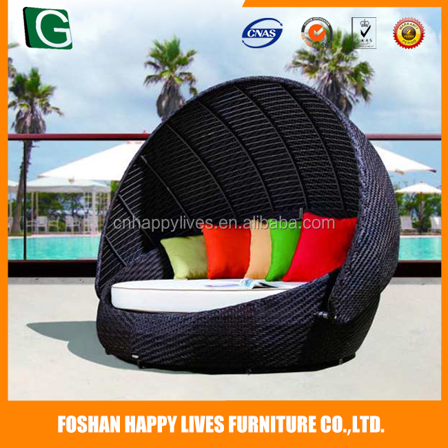 Hot selling!!! furniture rattan/wicker material HL-2070 cheap outdoor patio daybed