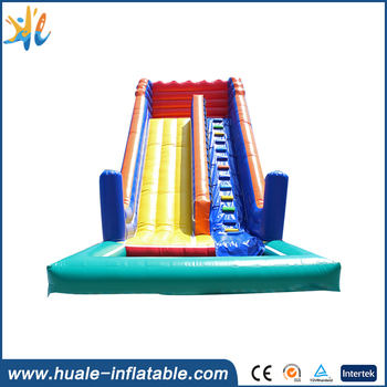 Huale 7m high colorful slide with pool/giant inflatable water slide for adult
