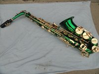 AS-YBGGG OEM/ODM Professional Alto Saxophone/Green Saxophone with Saxophone Spare Parts