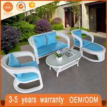 New Design Hotel Pool Wicker Garden Furniture Sofa Outdoor Rattan Curved Sofas