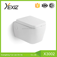 X3002 bathroom fashion design water closet wall hung toilet price